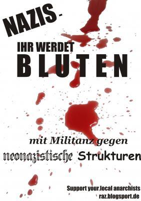 Nazis - ihr werdet Bluten